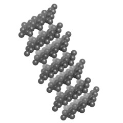 Graphite crystal structure. Graphite is the main component of le