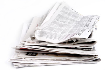 newspapers isolated