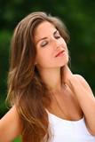 Young beautiful woman enjoy summer