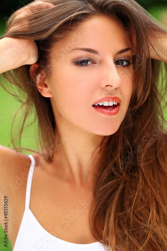 Young beautiful woman enjoy summer