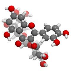 Rutin (rutoside, sophorin) molecule, chemical structure. Rutin i