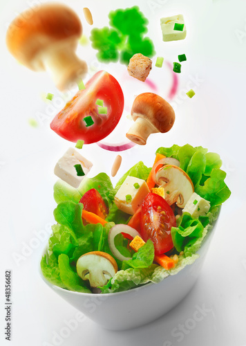 Healthy fresh mixed green salad