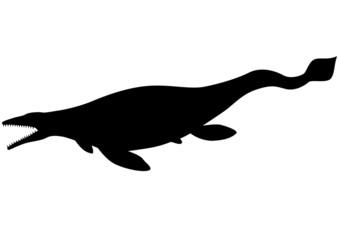 Mosasaurus (Tylosaurus) silhouette