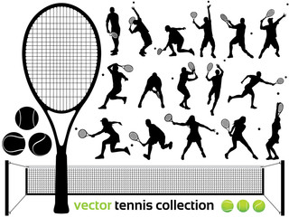 Vector Tennis collection - tennis players... (High detail)