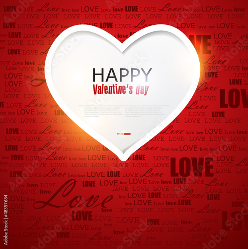 Gift card. Valentine's Day. Vector background