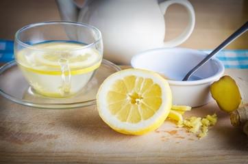Lemon Honey and Ginger Drink