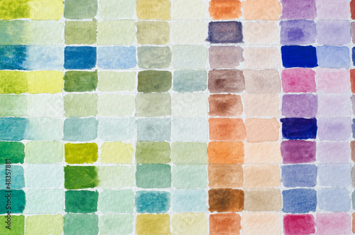 Watercolour Paint Chart