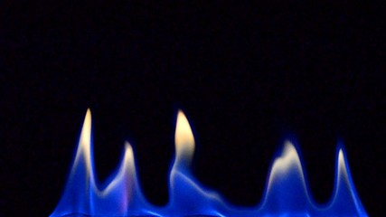 Flammen in Blau