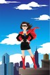 Superhero businesswoman