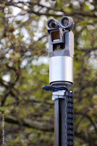 Police Surveillance Camera Facing Left