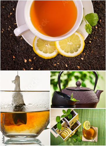 Collage of healthy green tea no. 3
