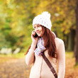 Beautiful young girl talking on cell phone. Beautiful Teenager