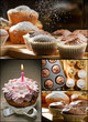 Collage of different types of muffins no. 5