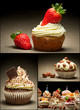 Collage of different types of muffins no. 1