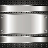 Fototapety Metallic background with grid 2