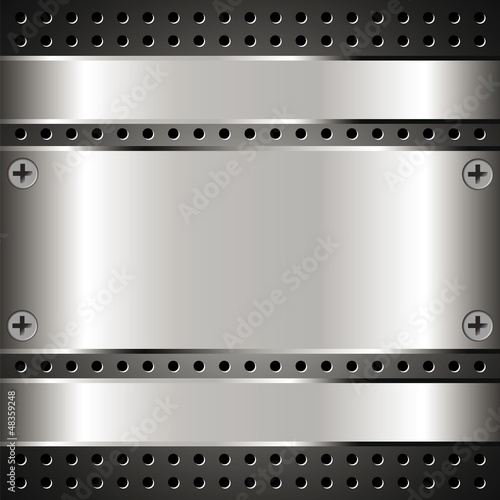 Metallic background with grid 2
