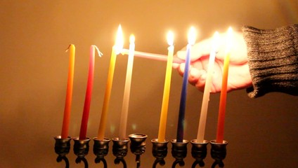 Ignition Chanukah candles