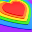 Heart shape composition as festive background