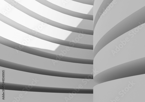 abstract white architecture building, 3d rendering