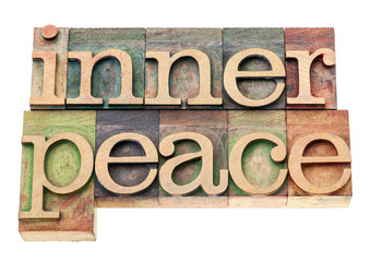 inner peace in wood type
