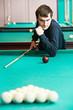 Snooker billiard player