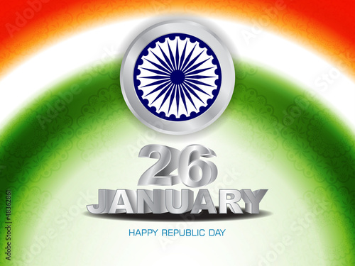 Artistic background design for Indian republic day.