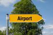Pfeil mit Baum AIRPORT