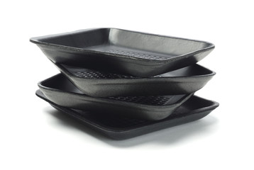 Black Styrofoam Trays