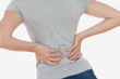 Woman suffering from backpain