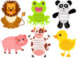 A Vector Set of Cute Animal Icons / Tag / Label