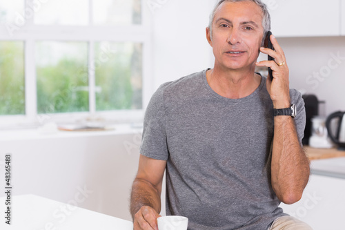 Man calling someone