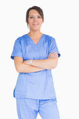 Nurse with arms crossed
