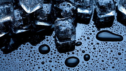 Ice cubes thawing