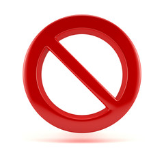 Stop symbol. 3D sign isolated on white
