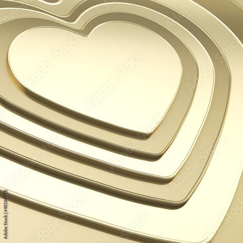 Heart shape composition as festive background