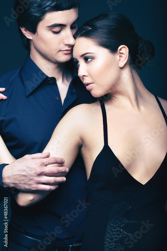 Couple in black