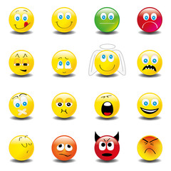Smilies Smiley Emoticon faces icon set 3