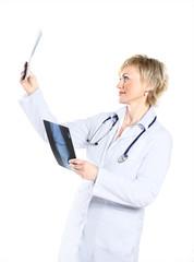 Beautiful doctor woman.