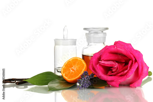 Create perfume isolated on white