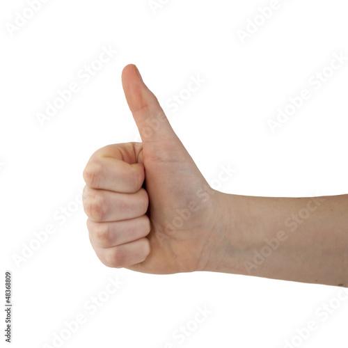 main faisant un signe positif