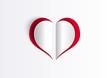 Coeur découpé - Saint Valentin