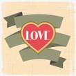 Vintage Valentines Day greeting card.