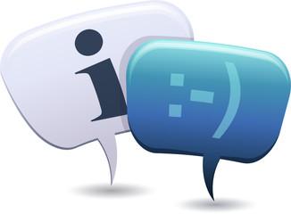 Personnages bulle et demande d'information