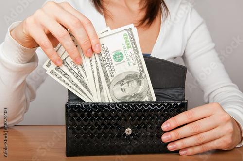 cash in the wallet