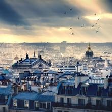 Paysage urbain de Paris prise de Montmartre