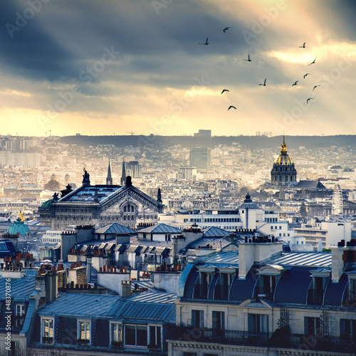 Paris cityscape taken from Montmartre - 48370876