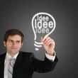 Mann hat eine Idee Ideenfindung