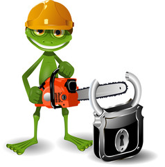 Frog and padlock