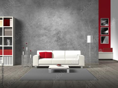 Leinwanddruck Bild modernes wohnzimmer