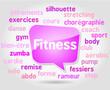 Bulle : Nuage de mots Fitness